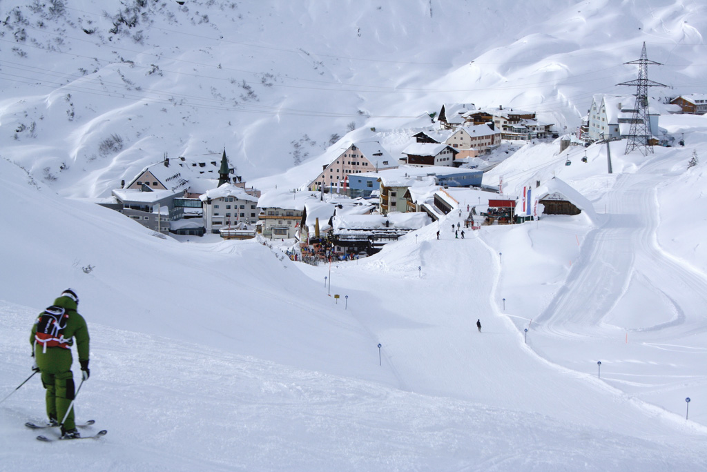 Aussicht auf St. Christoph am Arlberg