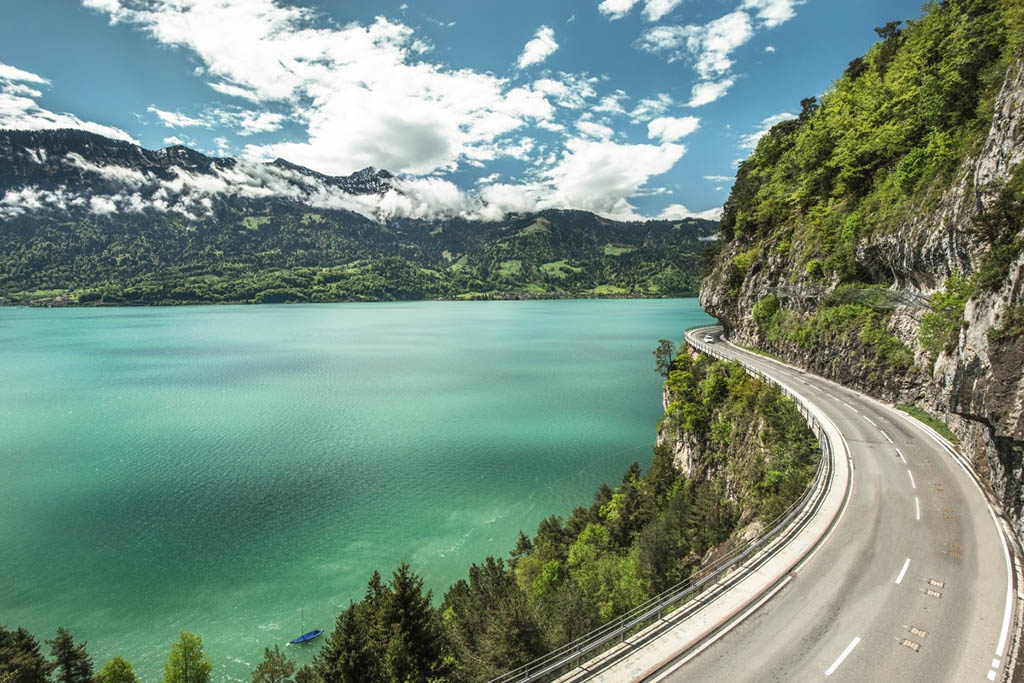 Thunersee meer in Zwitserland