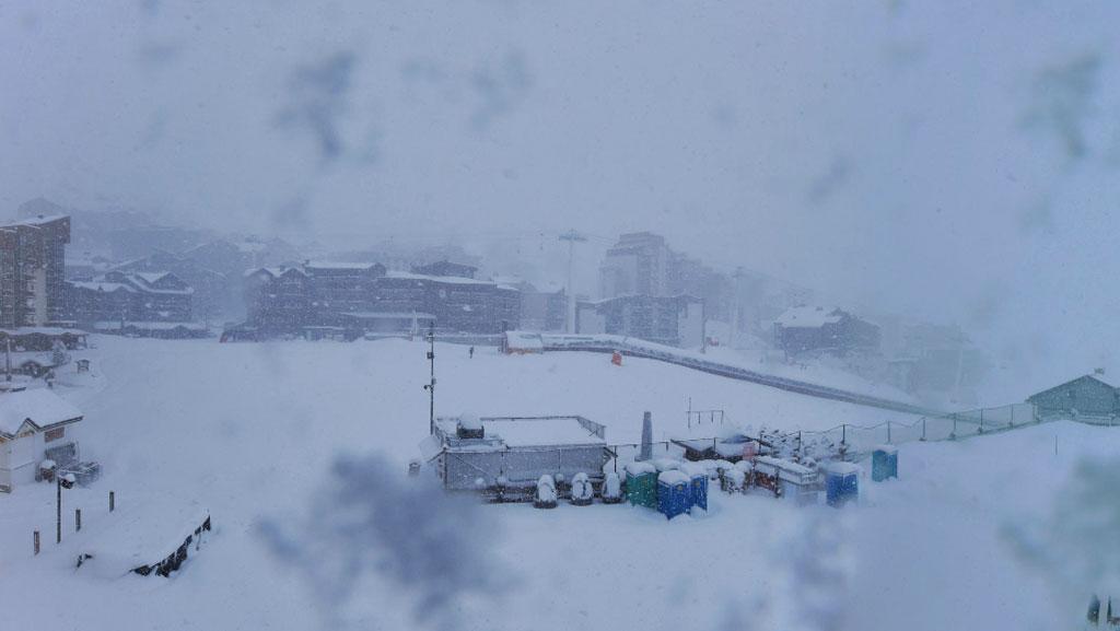 Sneeuw in Val Thorens