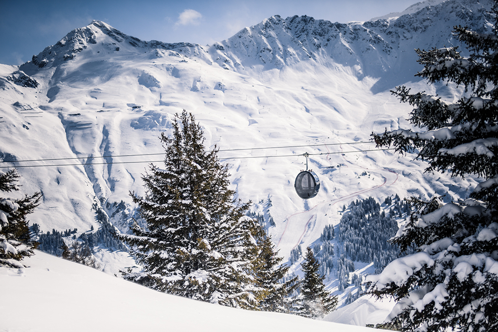 Cable car in Arosa Lenzerheide