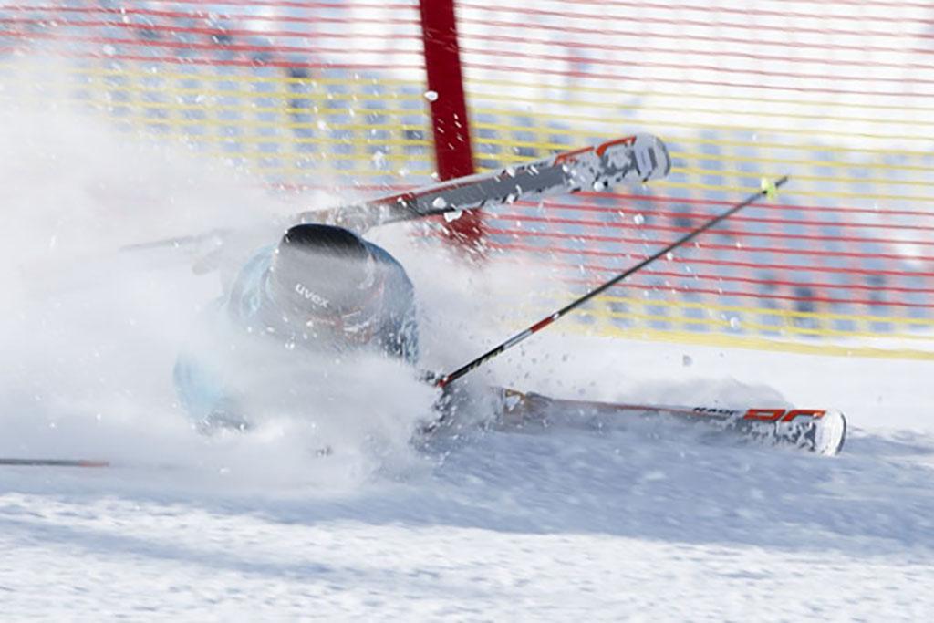 Skiunfall beim Skifahren