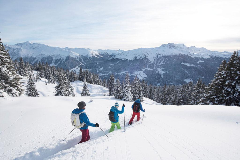Sneeuwschoenwandelen Davos-Klosters
