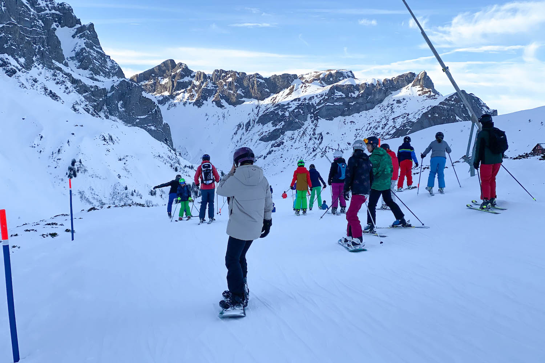 drukte in skigebieden