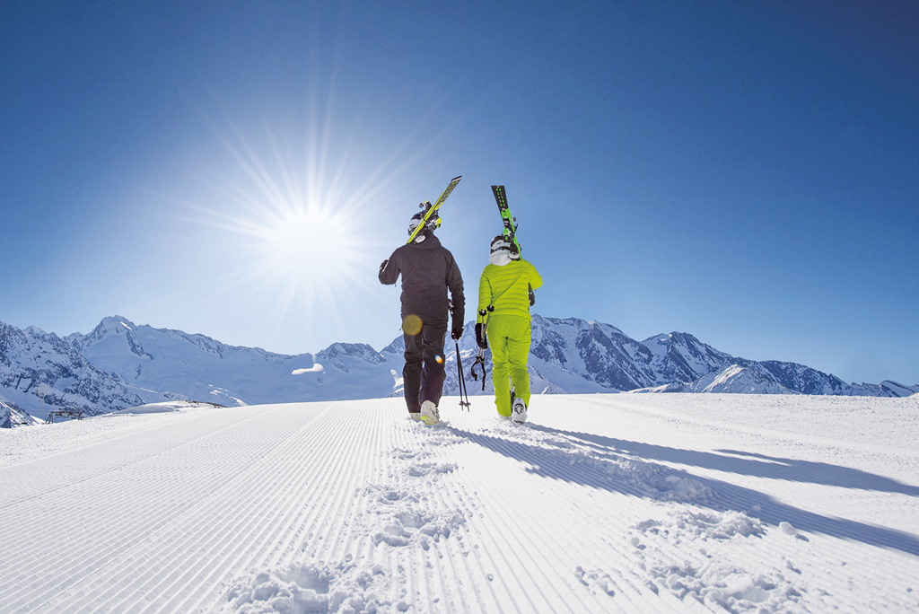 Skiën Hintertuxer Gletscher