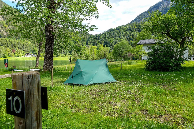 Kamperen in een tent in Oostenrijk
