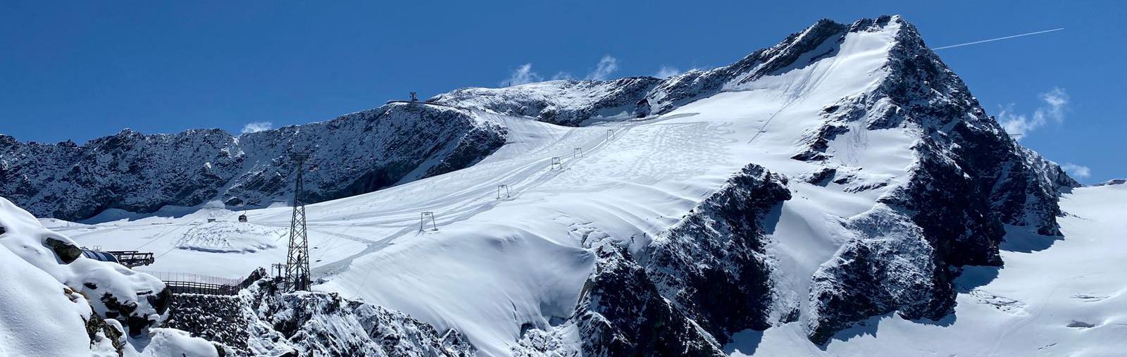 Gletscherskigebiet Sölden, Skifahren im September