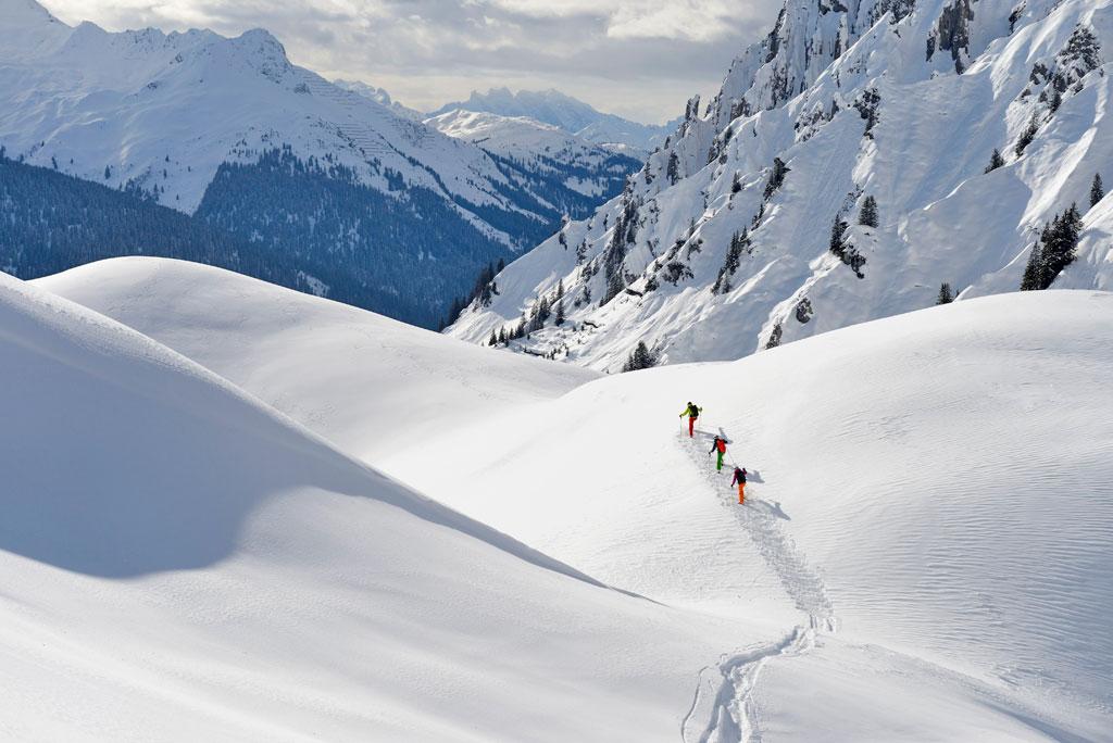 ski touring Lech Zurs