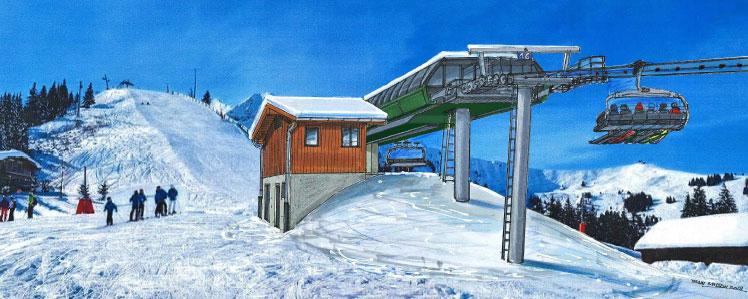 Impressie bergstation Chattrix stoeltjeslift