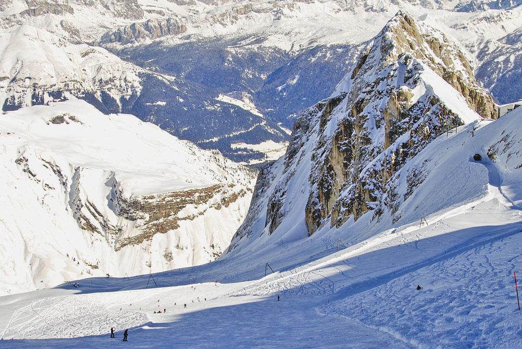 Skiën op de Marmolada