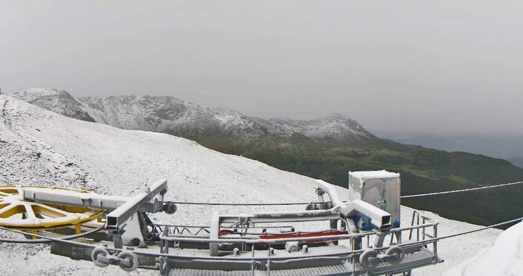 Breuil Cervinia verse sneeuw in juli
