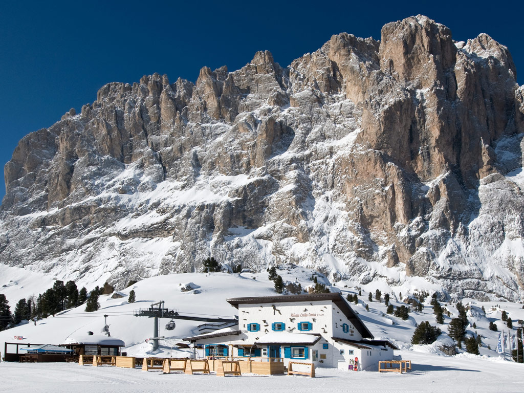Val Gardena view of the Dolomites