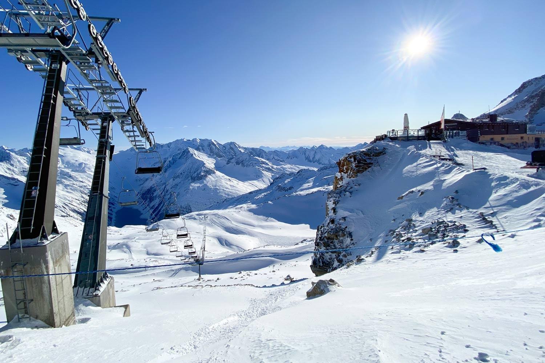 Ganzjährig Ski fahren auf dem Hintertuxer Gletscher