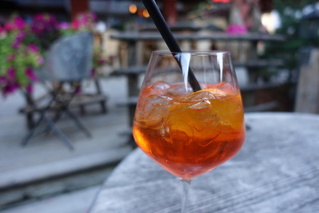 Glas Aperol Spritz